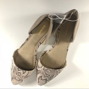 OLD NAVY NWT Snake & Faux Suede D' orsay Flats 8